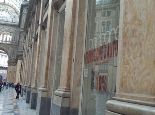 Sequestrati negozi abiti vip in Galleria Umberto a Napoli